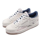 Reebok 休閒鞋 Club C 85 ATI 90s 米白 藍 網球鞋 皮革鞋面 男鞋 女鞋【PUMP306】 DV8961