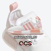 【六折特賣】adidas 休閒鞋 NMD_R1 W 白 粉紅 女鞋 Boost 襪套式 運動鞋【ACS】 FV8730