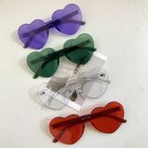 太陽眼鏡 原宿女網紅同款愛心形墨鏡果凍色桃心眼鏡