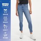 Levis 女款 721高腰緊身窄管牛仔長褲 / CoolJeans輕彈抗UV / 開岔褲腳 / 及踝款