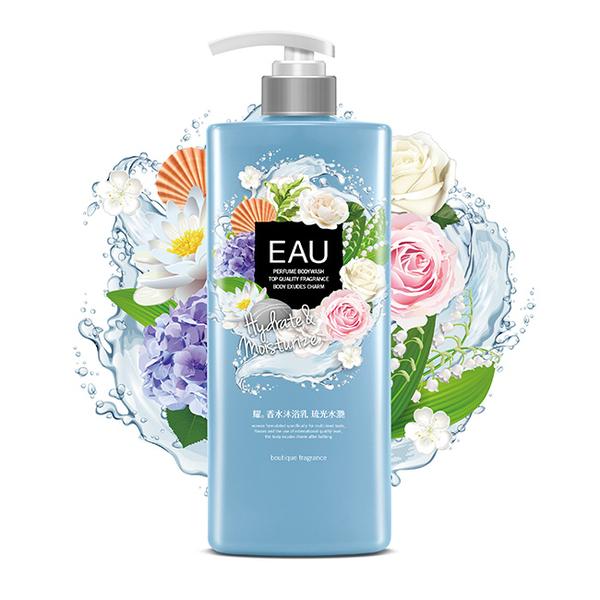 EAU耀 香水沐浴乳-琉光水灩1000ml