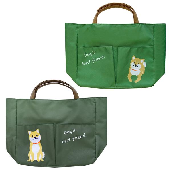 【日本正版】柴犬 輕便手提袋 便當袋 午餐袋 手提袋 大西賢製販 481276 481283