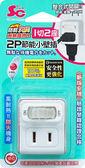 (台灣製造)1開2插2P分接器【SinCyuan】