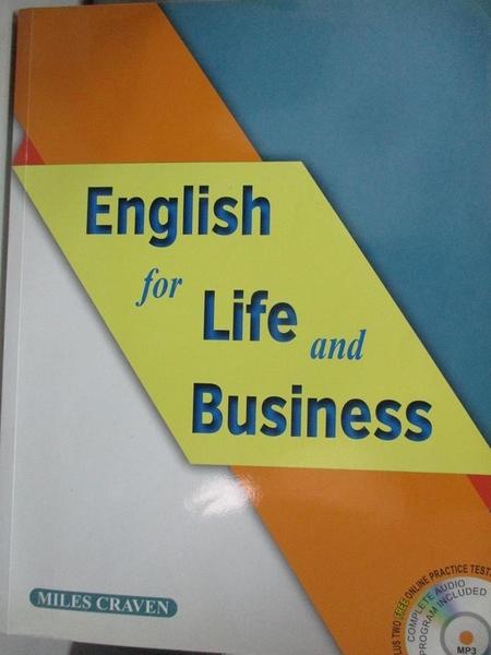 【書寶二手書T2/語言學習_DJY】English for Life and Business_2本合售_Miles Craven