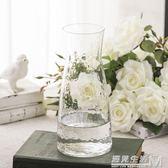 日系錘紋小透明玻璃花瓶 簡約創意水培插花花器 小清新干花瓶擺件 遇見生活