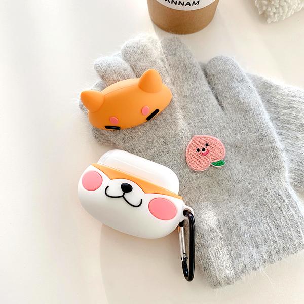 🍎 Airpods Pro 專用  🇹🇼台灣發貨 [ 微笑柴犬  ] 藍芽耳機保護套 蘋果無線耳機保護