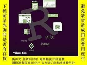 二手書博民逛書店R罕見Markdown: The Definitive GuideY256260 Yihui Xie Chap