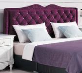 【森可家居】奧莉薇6尺紫色絨布床頭片(不含床底) 8HY21-07 雙人加大 法式古典 宮廷風 MIT