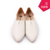 【A.MOUR 經典手工鞋】淑女低跟鞋 - 米白/ 跟鞋 / 進口質感牛皮 / 舒適低跟鞋 / DH-7505