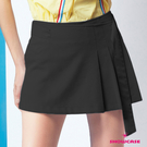 【SHOWCASE】學院風半百褶腰袋釦A字短裙(黑)