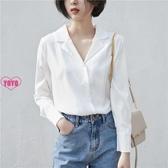 職業襯衣 職業裝 襯衫 純色 長袖 雪紡襯衣
