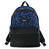 【南紡購物中心】MICHAEL KORS KENT輕量尼龍馬賽克後背包-藍