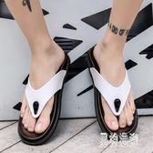 人字拖鞋 男潮2019夏季新款韓版潮流室外個性沙灘鞋涼拖鞋男 QX12408 『男神港灣』