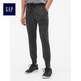 Gap男裝 簡約舒適休閒系繩縮口長褲 443956-正黑色
