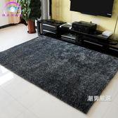 降價最後兩天-客廳地毯茶幾客廳地毯臥室房間滿鋪韓國絲時尚簡約現代床邊歐式地毯墊11色xw