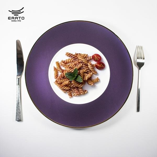 韓國ERATO 無光淺盤4色 西餐盤 陶瓷盤 餐盤 12吋