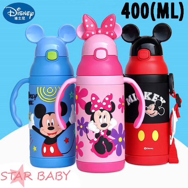 STAR BABY-必備!正牌 米奇 米妮 兩用 保冷 保溫 兒童水壺 保溫瓶 保溫杯 雙耳握把 學習杯