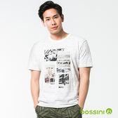 圓領短袖T恤10淡卡其-bossini男裝