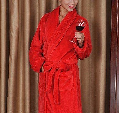 高檔法蘭絨睡袍D117