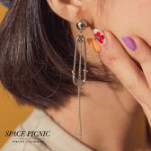 耳環 Space Picnic|不對稱垂墜大別針個性耳環(現+預)【C19041013】