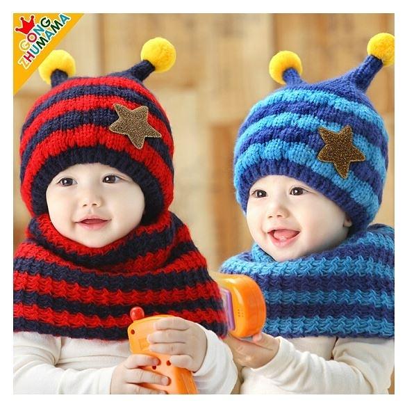 寶寶帽 寶寶圍巾【JD0004】韓國小蜜蜂毛帽+圍脖兩件組/秋冬保暖/童帽寶寶帽