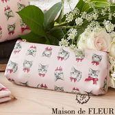 Maison de FLEUR ♡ 可愛貓咪化妝包/筆袋 - Maison de FLEUR