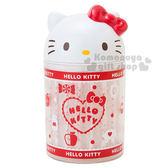 〔小禮堂〕Hello Kitty 造型棉花棒盒《60入.白.大臉.點點》單支包裝衛生方便 4901610-94778