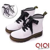 馬汀靴 真皮緞帶2way馬汀靴(白) * 0101shoes  【18-888w】【現+預】