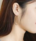 正韓經典C圈4.5CM垂耳耳環~夏綠蒂d...
