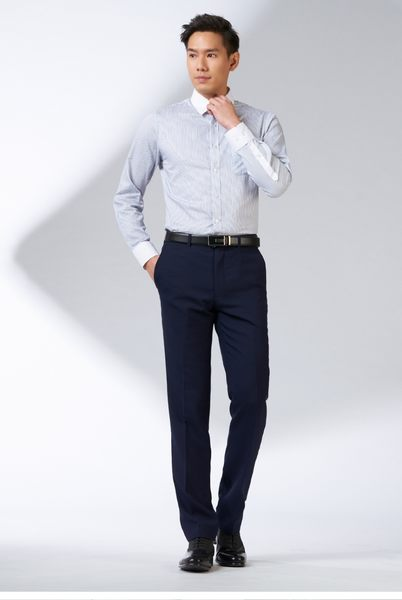 極品西服 簡約設計羊毛經典款西褲_ 藍(BW705-1)