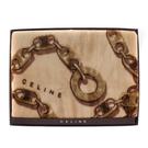 CELINE經典鎖鏈LOGO保暖絨毛大蓋毯(駝色)084037-9