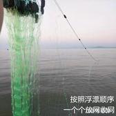 漁網絲網魚網粘網高加重加粗100米三層漁網捕魚網漁具撒網手拋網 LH6983【123休閒館】