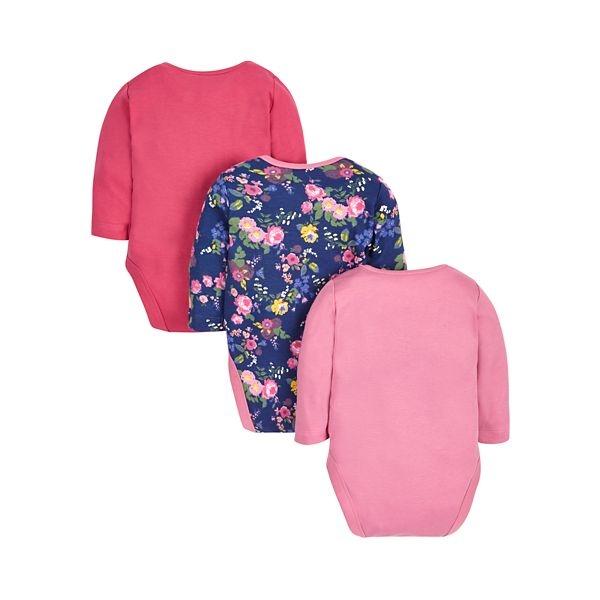 mothercare 3入袋裝花花包臀衣-G12(M1JB938)03~24個月