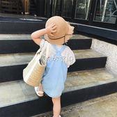 女童牛仔裙 兒童牛仔背帶短裙薄款女童寶寶背帶 珍妮寶貝