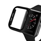 Apple Watch 一體成形保護殼+鋼化膜 2/3/4/5/6/SE代 PC殼 鋼化玻璃膜保護 保護殼防摔套