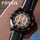 FOSSIL 羅馬假期時尚機械錶 ME3...