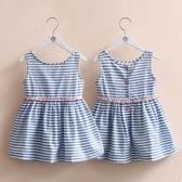 寶寶條紋背心裙 2018夏裝新款正韓女童童裝 兒童洋裝子qz-3350   雙十二全場鉅惠