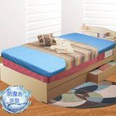 床墊  彈簧 防潑水 達茜 日系高彈力 防潑水 彈簧 折疊床墊 單人(3x6.2尺) KOTAS