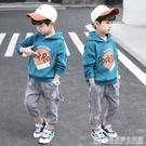 童裝男童套裝秋裝新款韓版春秋款男孩帥氣兒童衛衣運動兩件套 完美居家