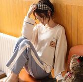 韓版春秋季睡衣女純棉長袖甜美可愛夏天薄款可外穿家居服兩件套裝 韓慕精品