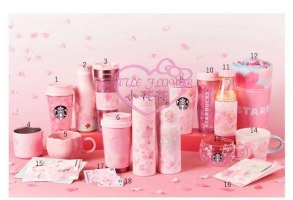 小花花日本精品粉色星巴克櫻花限定保溫杯 造型精美 耐高溫 把手設計方便攜帶 辦公居家皆宜