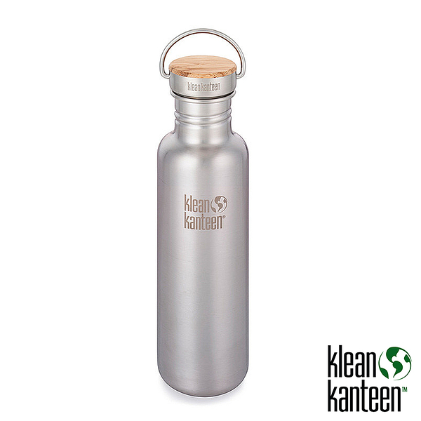 klean kanteen Reflect 27oz 竹片不鏽鋼瓶(44mm)『原色鋼』K27SSLRF 水壺│不鏽鋼水壺│運動水壺