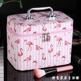 化妝箱化妝包小號韓國化妝箱便攜簡約少女心手提收納盒品大容量可愛網紅 創意家居生活館