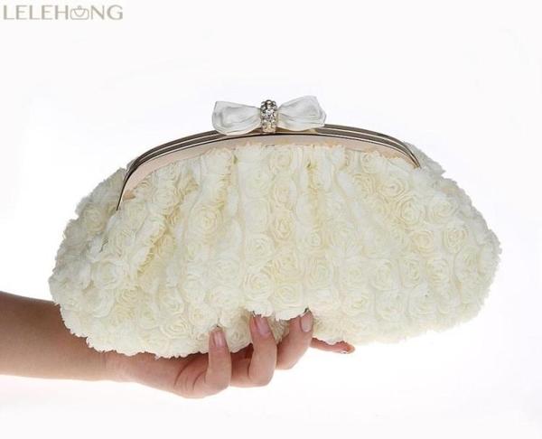 甜美淑女花朵包包斜挎包單肩晚宴包新娘包結婚包手拿小包禮服包