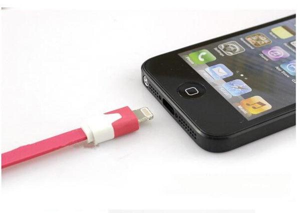 【SZ】(不挑色/款)APPLE iPhone 6 細扁線 小麵條 iPad mini iPhone 5s iPhone 6 plus 傳輸線 充電線 數據線