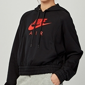 Nike NSW air hoodie flc 女款 黑 運動 休閒 帽T 連帽 上衣 CU6562-011