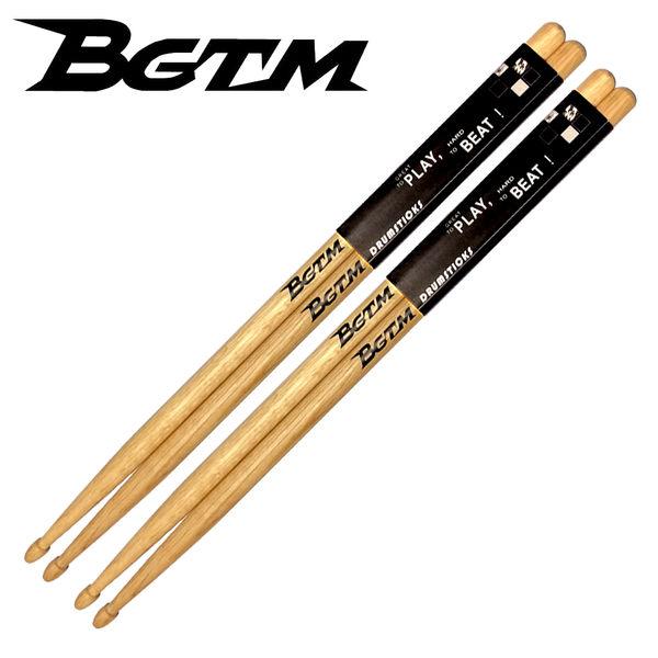 ★BGTM★嚴選橡木鼓棒AMERICA OAK-5A鼓棒-2入組(加贈楓木鼓棒一雙)