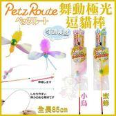 *KING WANG*日本Petz Route沛滋露 舞動極光可調長度《小鳥/蜜蜂》逗貓棒 二款可選