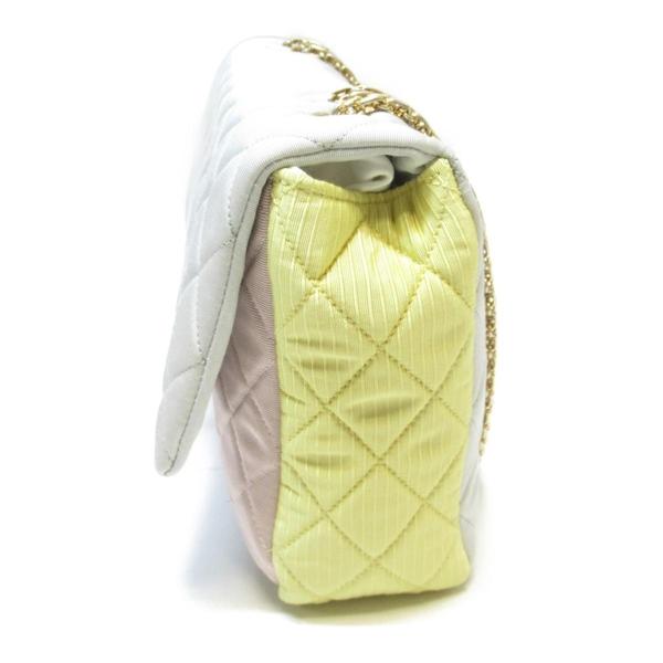 CHANEL 香奈兒 灰/黃/粉紅帆布肩背包 Grosgrain 2.55 Reissue Flap Bag 【BRAND OFF】