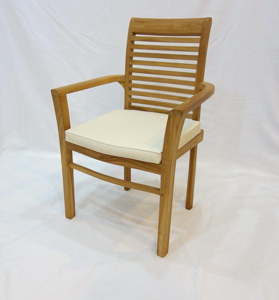 【南洋風休閒傢俱】戶外休閒椅系列-柚木扶手椅  戶外實木椅  戶外餐椅 原木沙發(#056T)